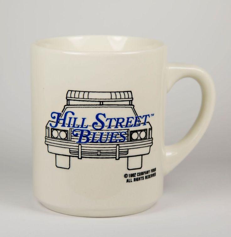 1982 Hill Street Blues TV Show series Coffee Mug white Police Car