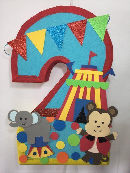 Number circus pinata. Circus pinata. Circus birthday party theme. Circus decoracion. Circus party supplies. clown birthday party. clowns.