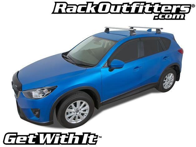 Mazda CX 5 Rhino Rack 2500 Aero SILVER Base Roof Rack U002713 U002716