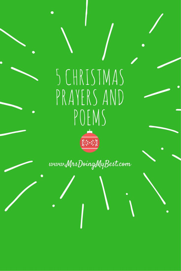 Anyone prepared with a special poem to read on Christmas Eve? How about a prayer to say before Christmas dinner with your family? I have5 [...]