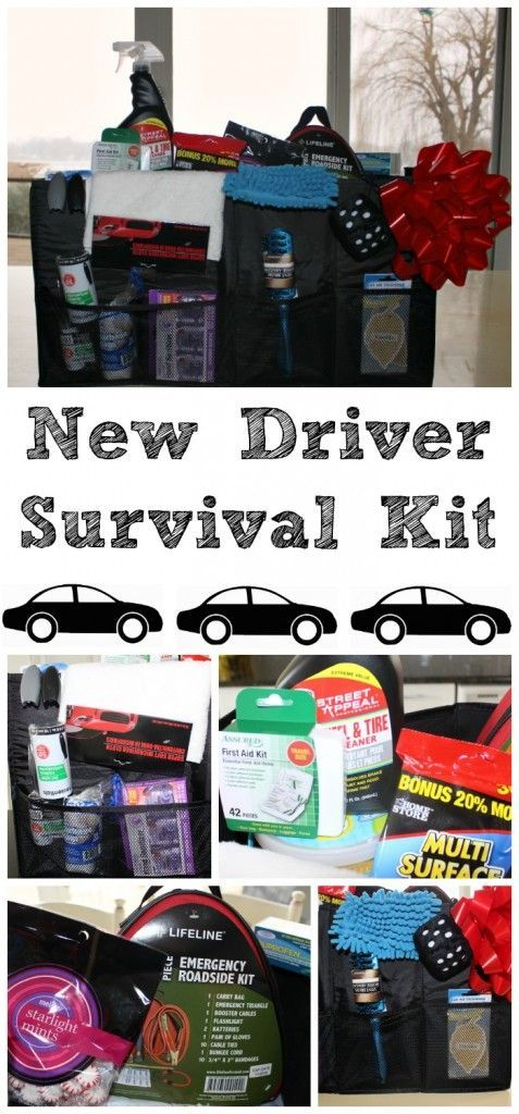 New driver survival  - a great DIY gift for your new driver!! Perfect for a sweet sixteen gift!