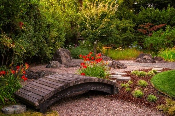 Elegant and Stylish Oriental Asian Landscape Garden