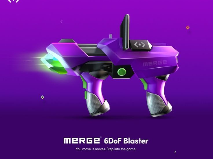 Merge made a VR headset for kids and a Blaster you put your phone in