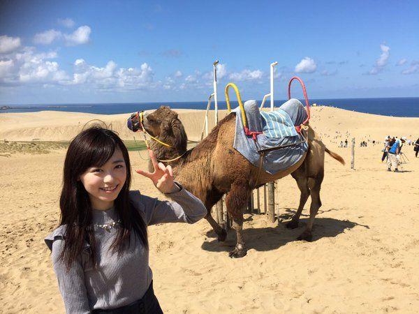 福原遥スタッフ(公式) @haruka_staff  12月28日 鳥取にも行きましたよ〜(^^) 鳥取と言えば・・・ 鳥取砂丘!!! ラクダ見て、梨・らっきょバーガー・砂たまご食べて鳥取大満喫( ´ ▽ ` )ノ
