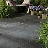 Blue Black Natural Slate Mixed Size Paving Pack (L)3690mm (W)2760mm, 10.20 m² | Departments | DIY at B&Q