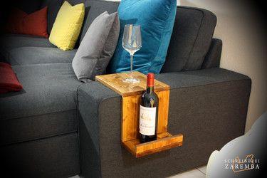 beistelltisch sofa ablage holz pinterest ablage. Black Bedroom Furniture Sets. Home Design Ideas