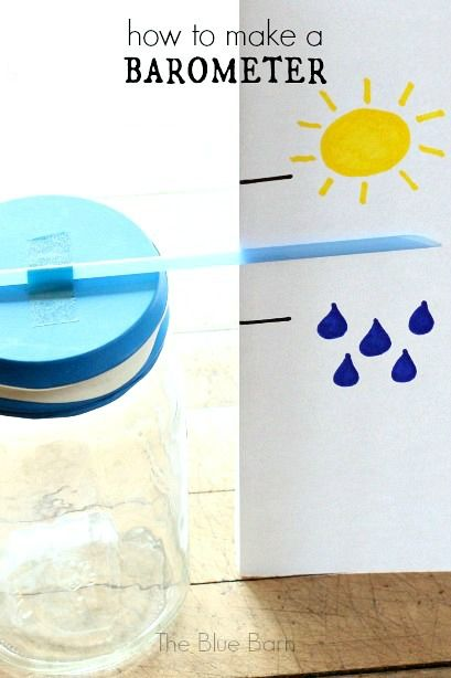 How to make a barometer ~ science for kids