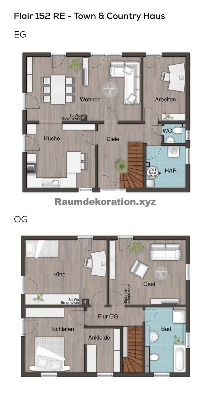 Architecture Ideas – Floor plan Urban villa modern with hipped roof Architecture – 5 rooms, 150 sqm living area, He