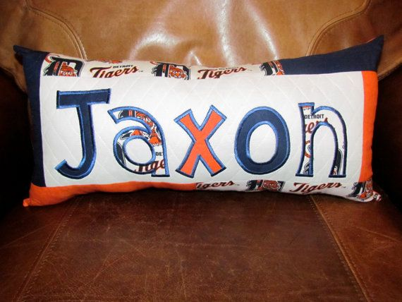 Items Similar To Detroit Tigers Name Pillow On Etsy