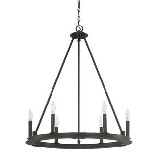 Capital Lighting Pearson Collection 6-light Black Iron Chandelier   Overstock.com Shopping - The Best Deals on Chandeliers & Pendants