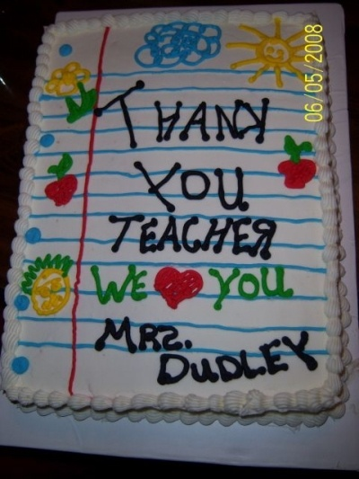 Teacher Cake  By Debo44 on CakeCentral.com
