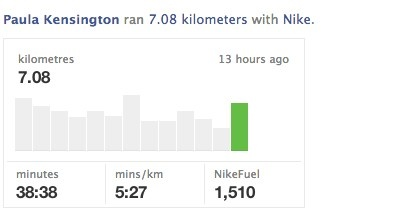 Nike+ OpenGraph post on FB