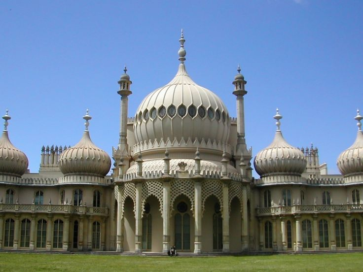 Brighton Pavilion and Stables -   Designed in the Indian style by William Porden the stables were completed in 1808.  The work was taken over by John Nash, and he completed the Royal Pavilion in 1823.