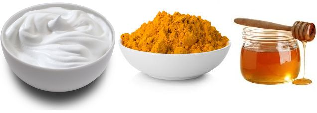Turmeric Powder, Yogurt, Honey Face Pack for summer