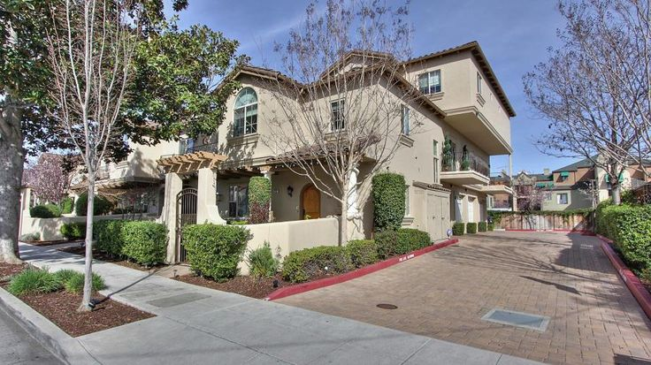 Newer End Unit in Prime Downtown Location*3 b/2.5 b+office/guest rm over 1500 sf*Elegant Mediterranean style complex(9 units)*Rarely available w/enchanting courtyard (best location in complex)*Less than 5 min to Cal-Train*Light/bright open floor plan w/spectacular views*Gourmet kitchen w/custom cabinetry