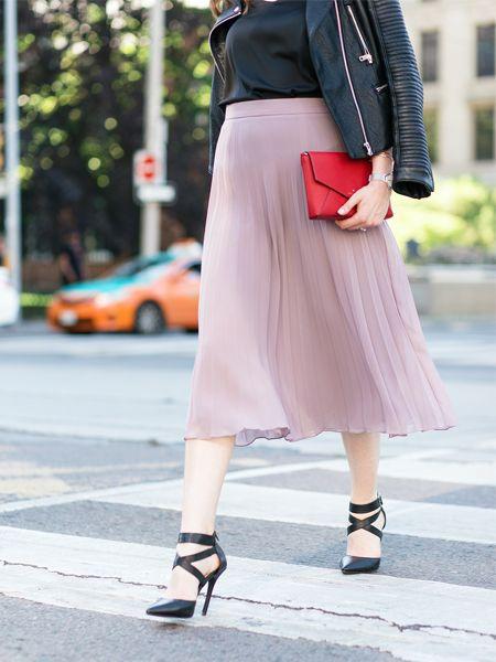 The most feminine yet trendy skirt of 2017.The Vivien skirt is classic pleated chiffon skirt.