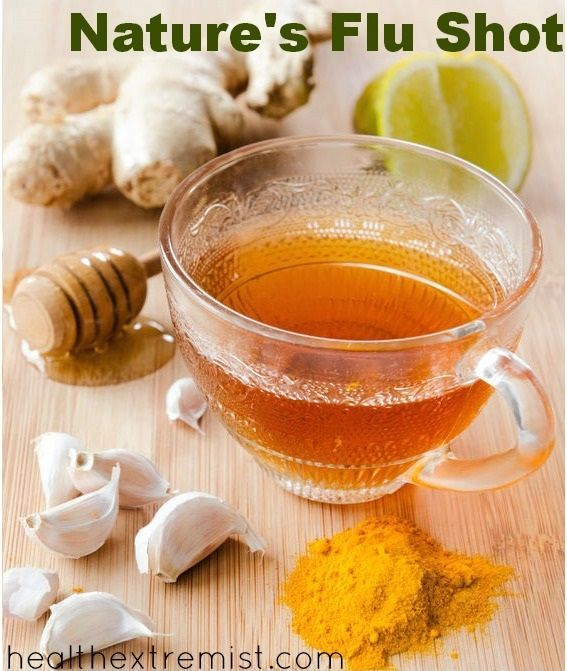 Recipe for nature's flu shot, prevent the flu with immune boosting foods. Avoid the health hazards of flu vaccines and use nature's flu shot to help prevent the flu
