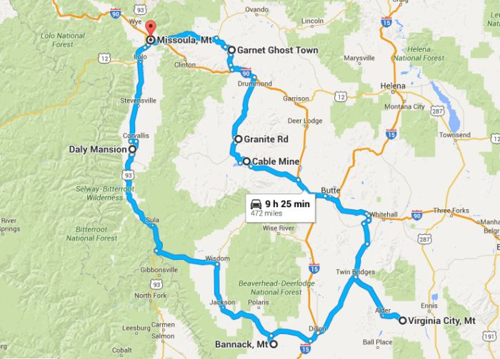 Ghost Town Colorado Map.This Haunting Road Trip Through Montana Ghost Towns Is One You Won T