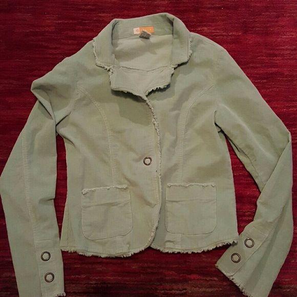 NWOT Tulle mint blazer Light corduroy texture, mint color, very nice! Tulle  Jackets & Coats Blazers