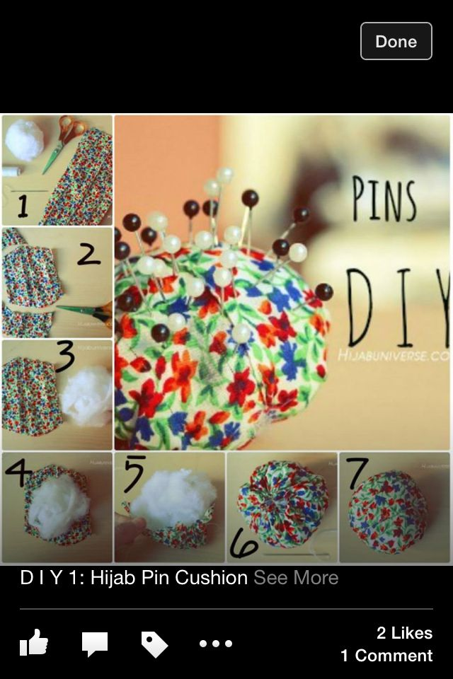 Place where u can put ur hijab pins!