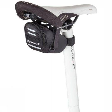 Vaude Sacoche De Selle Race Light S - Noir : pour les minimalistes : cette sacoche ultra légère en petit format dispose de deux petites poches intérieures où ranger le set de premiers secours.