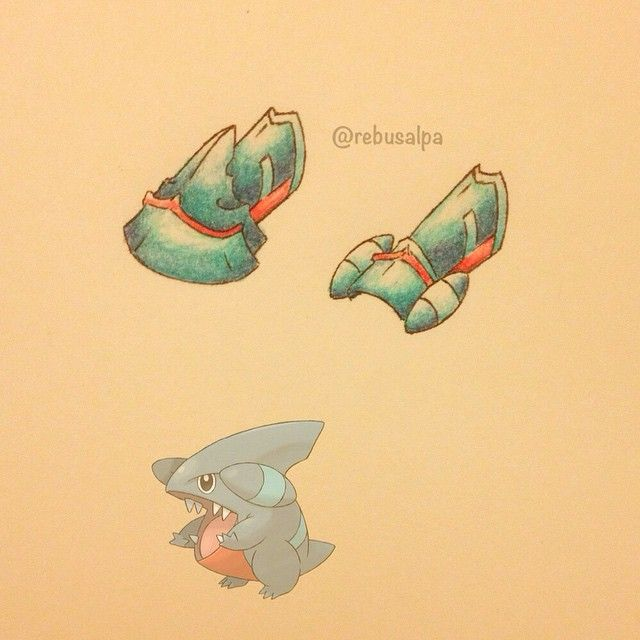 Instagram media by rebusalpa - Pokeapon No. 443 - Gible. #pokemon #gible…