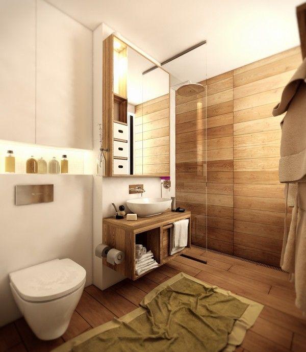 Home Designing — (via Wood Floor Bathroom)