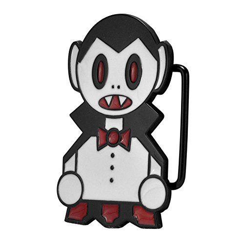 Buckle Rage Adult Unisex Cartoon Vampire Kid Dracula Belt Buckle White Black @ niftywarehouse.com #NiftyWarehouse #Dracula #Vampires #ClassicHorrorMovies #Horror #Movies #Halloween #Vampire