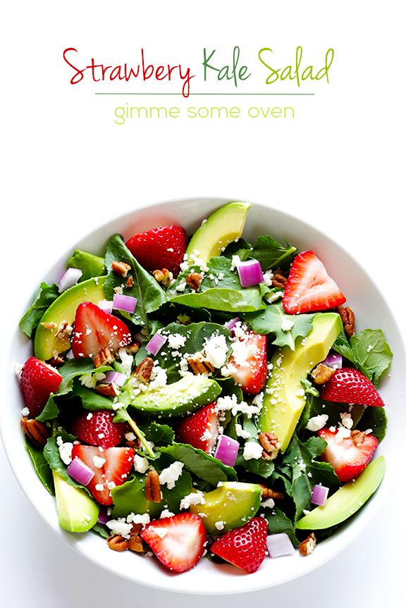 Strawberry Kale Salad | Gimme Some Oven