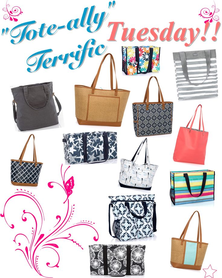 """""""Tote-ally"""" terrific Tuesday graphic for VIP Facebook group.  Thirty-One spring/summer 2018 www.mythirtyone.ca/sabrinawhite"""