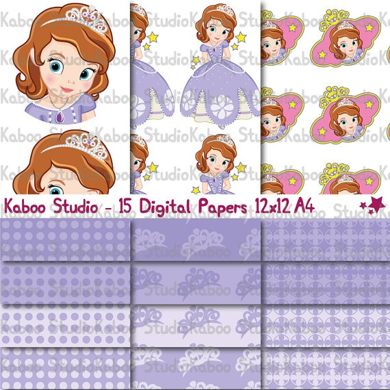 Instant Download  Papers  Princess Sofia The First by KabooStudio, €7.00