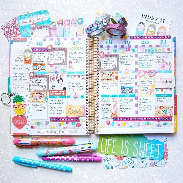 catherina.art:My Erin Condren planner for the week. #planneraddict ✏️ agate.v1 #planner #plannerlove #erincondren