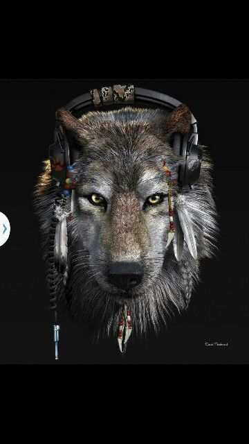 Werewolf with headphones | wolves and werewolves ...