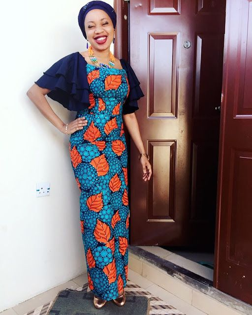 5a1eb2b726e Simple Looking ankara Long gown Styles For African Ladies - DeZango Fashion  Zone