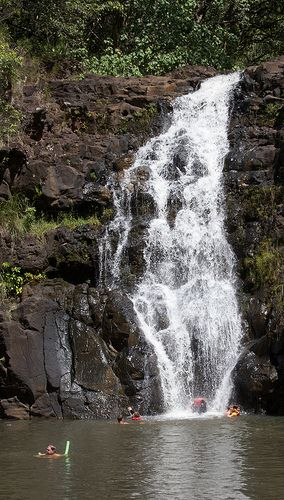 Waimea Falls Waterfall in Oahu:LOST filmed here...admission fee to Waimea valley