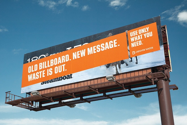 Denver Water campaign. Waste is out.  Agency: Sukle Advertising & Design.  Water conservation. #water #denver #waste