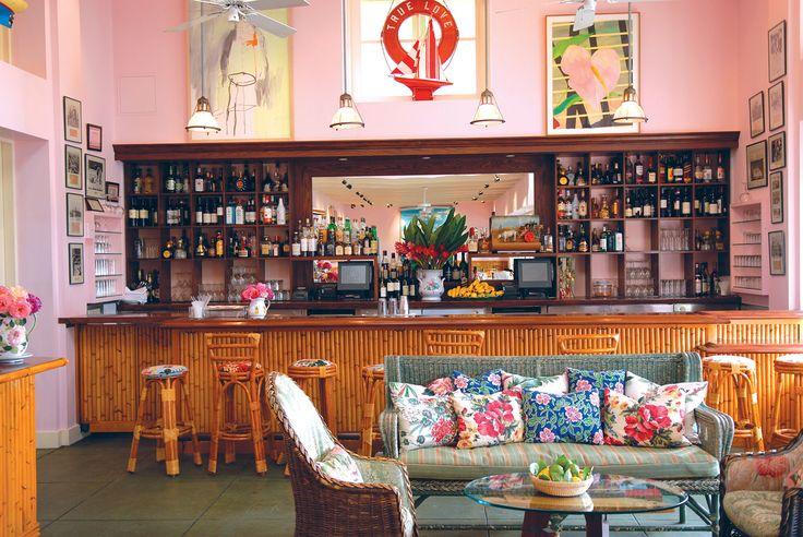 Fabulous bamboo bar and bars stools.    Ivy At The Shore - The Ivy Restaurants in Los Angeles & Santa Monica