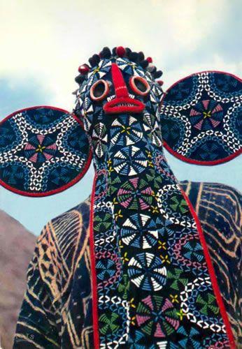Bamileke beaded Elephant mask, Cameroon