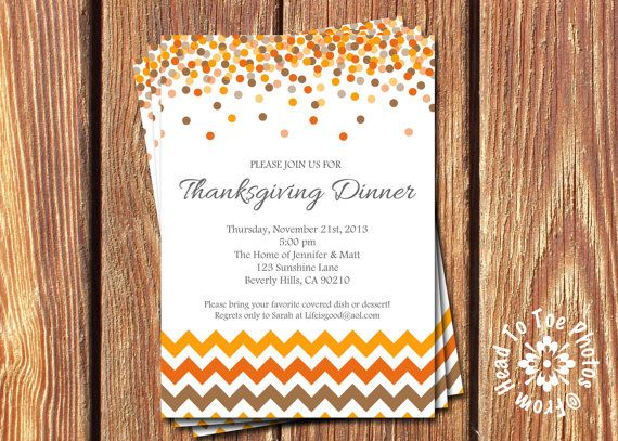 Beautiful Thanksgiving or fall invite. Etsy listing at http://www.etsy.com/listing/159875177/thanksgiving-invitations