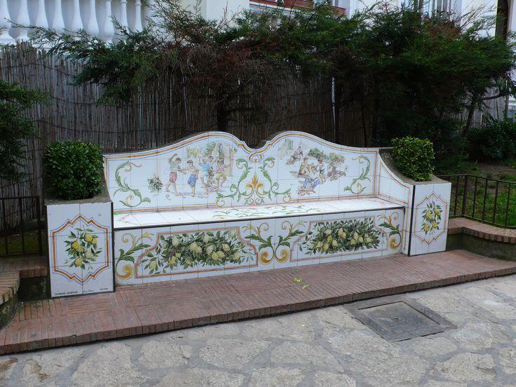 Panchina maiolicata, Via G. Orlandi, Anacapri