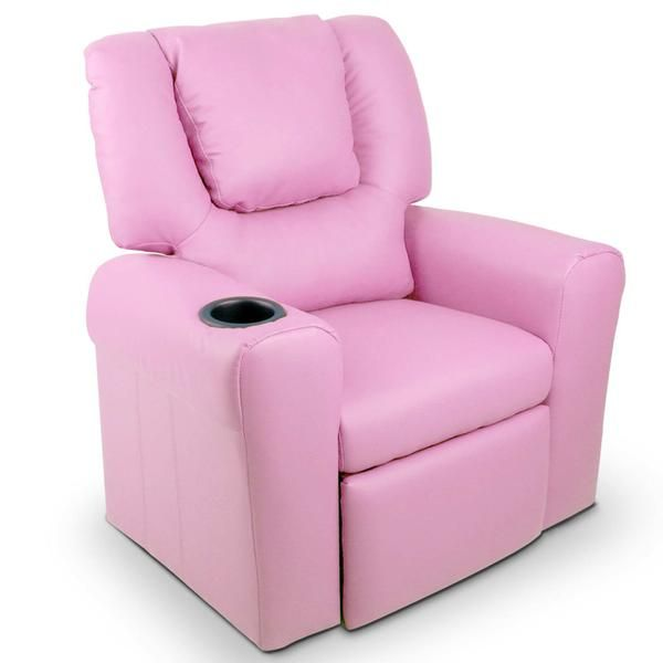 Kids Padded PU Leather Recliner Chair - Pink – Click Online Sales