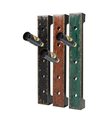 sterling industries set of 3 wall hanging wine racks in reiss black red green