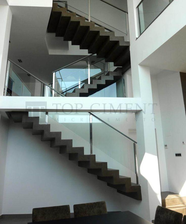 1000 images about 50 microcemento cemento pulido porcelanato on pinterest industrial - Escaleras para viviendas ...