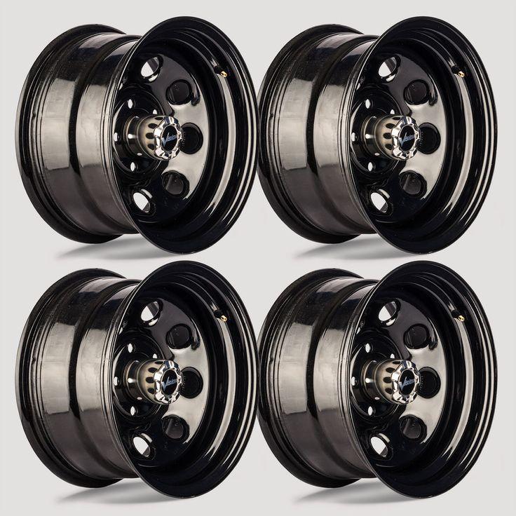 Set 4 16 Quot Vision 85 Soft 8 Gloss Black Steel Wheel 16x8