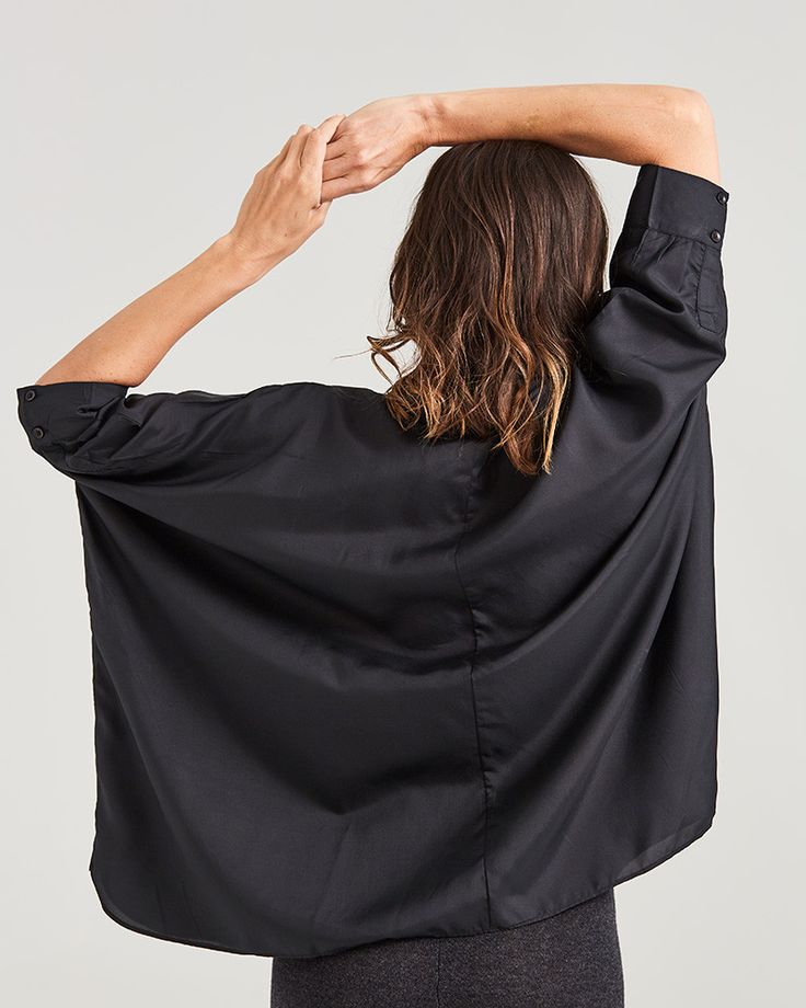 silk freestyle blouse, $179 www.sassind.com