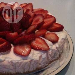 Kwarktaart met aardbeien @ allrecipes.nl