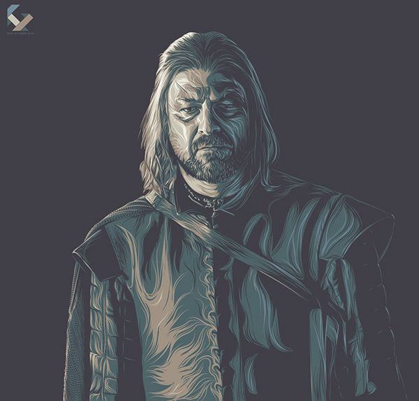 Game of Thrones (GOT) example #116: Game of Thrones Art Tribute on Behance