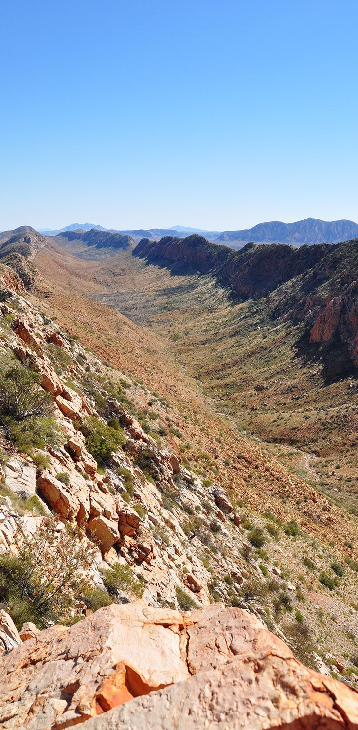 The view from Count's Point, on Section 8 of the Larapinta Trail, #outback #Australia. More: http://traveloutbackaustralia.com/the-larapinta-trail-outback-australias-best-long-distance-walk.html