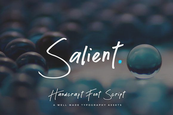Salient Handmade Font Script by Micromove on @creativemarket