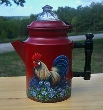 Rooster Coffee Pot